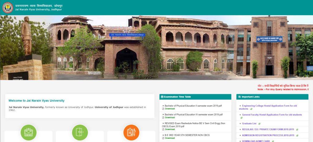 Jai Narain Vyas University jodhpur