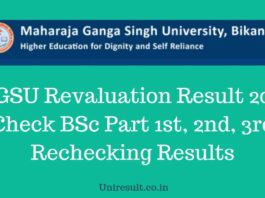 MGSU Revaluation Result 2019 Check BSc Part 1st, 2nd, 3rd Rechecking Results