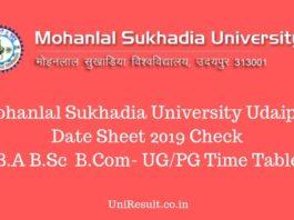 MLSU Date Sheet 2019 Check B.A B.Sc B.Com
