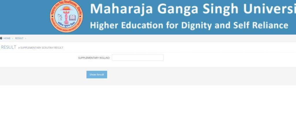 How to check MGSU Supplementary Result 2019