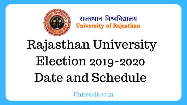 Rajasthan University Election 2019 Date and Schedule