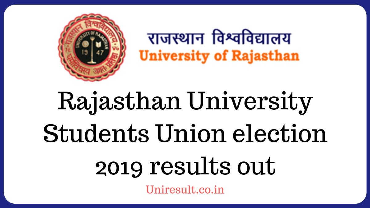 Rajasthan University Students Union election results out – RU Election result 2019