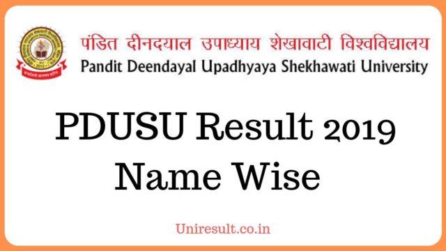 www.shekhauni.ac.in result 2019 name wise