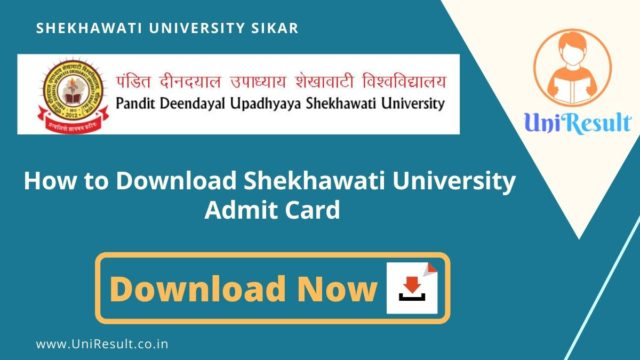 How to Download Shekhawati University  Admit Card
