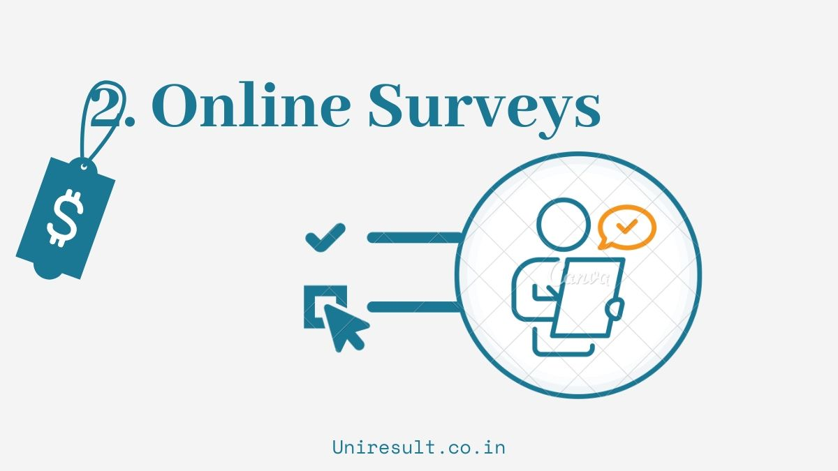 2. Earn From Online Surveys jobs - 5 online earning options for 10th 12th students