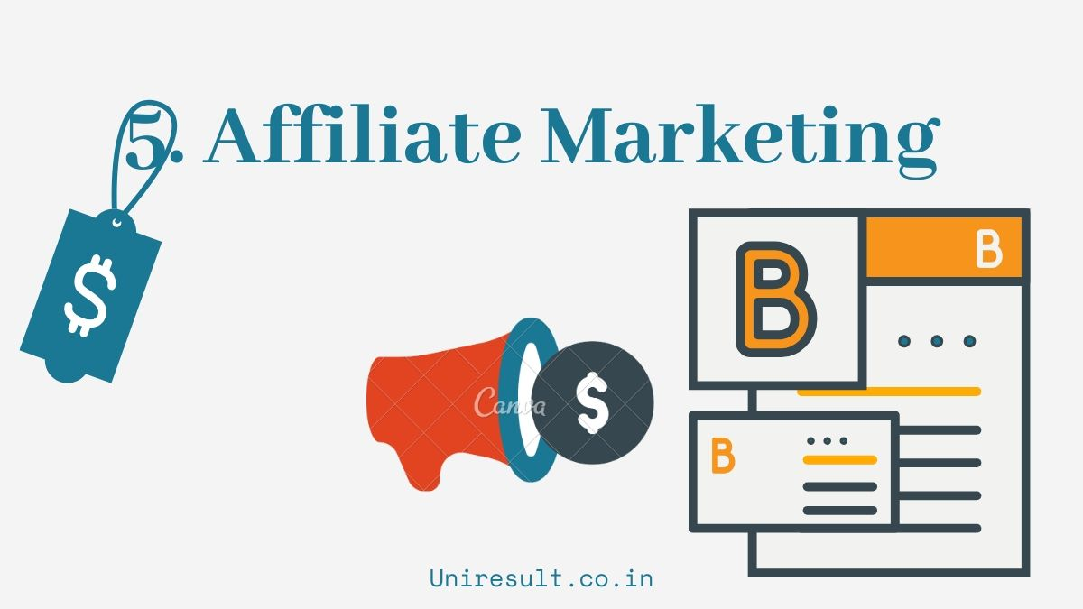 5. Earn from Affiliate Marketing Products - 5 online earning options for 10th 12th students