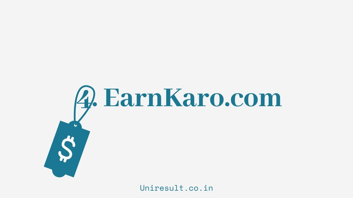 4. Earn from earnkaro.com website - 5 online earning options for 10th 12th students