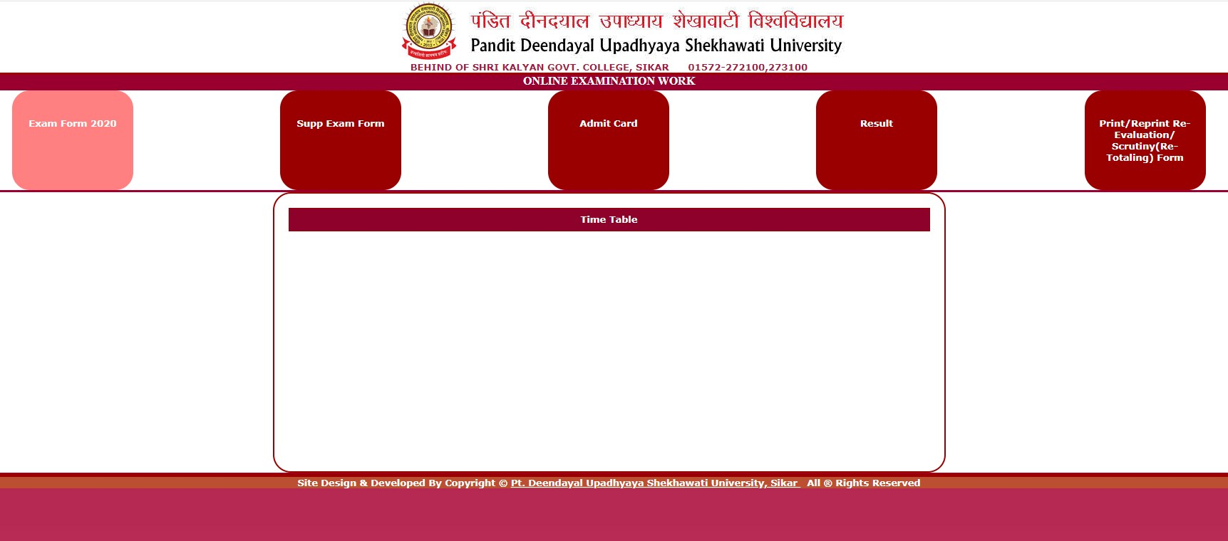 How to Download PDUSU Sikar New exam time table 2020