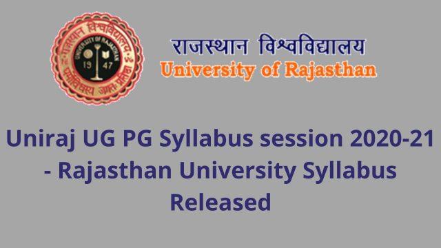 Rajasthan University Syllabus Released