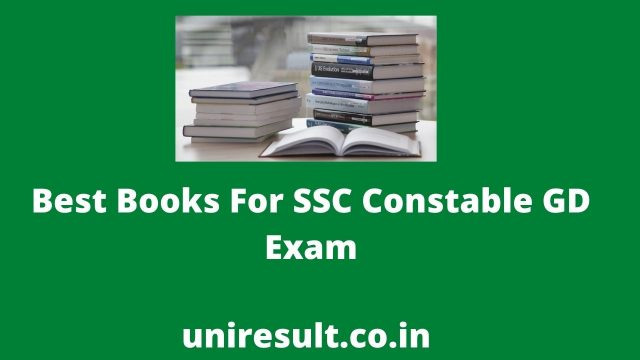 Best Books For SSC Constable GD Exam