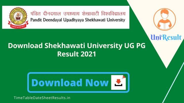 Download Shekhawati University UG PG Result