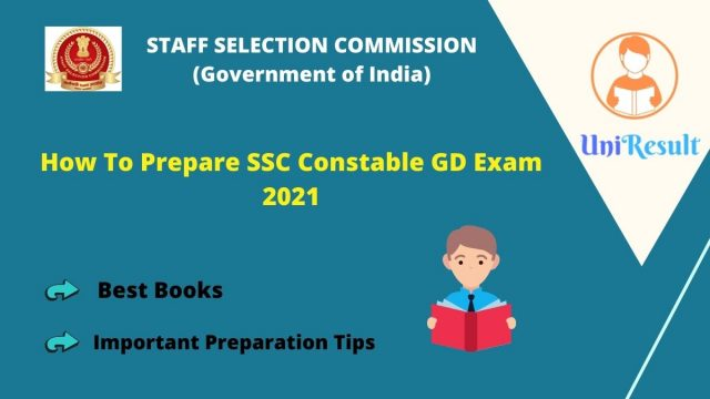 How To Prepare SSC Constable GD Exam 2021