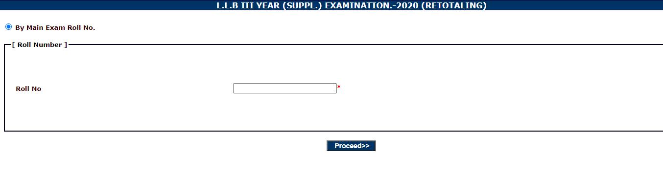 Download MGSU LLB 1 Year Supplementary Exam Result 2020