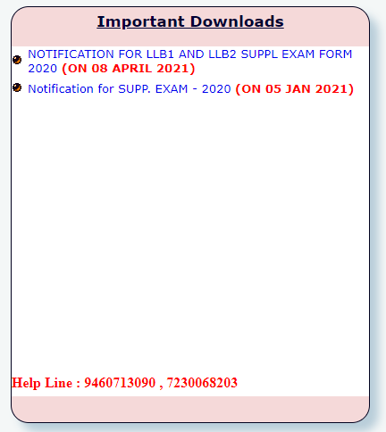 Download MGSU LLB 1 Year Supple Exam Date Sheet