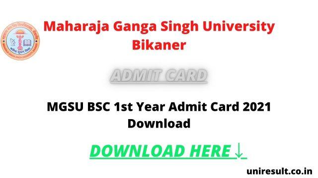 download-mgsu-bsc-1st-year-admit-card-2021