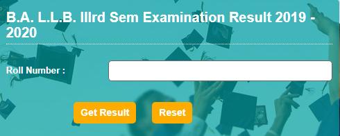 Download JNVU BA LLB 3rd Semester Exam Exam Result