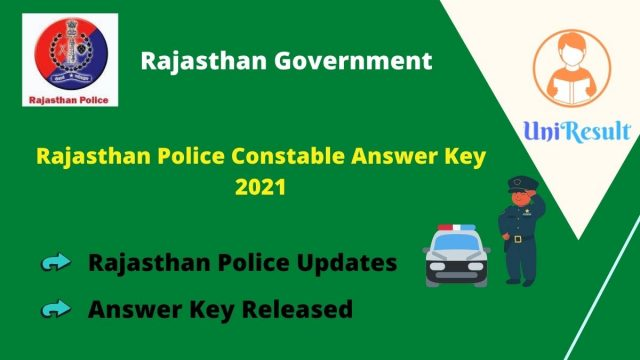 Rajasthan Police Constable Answer Key 2021