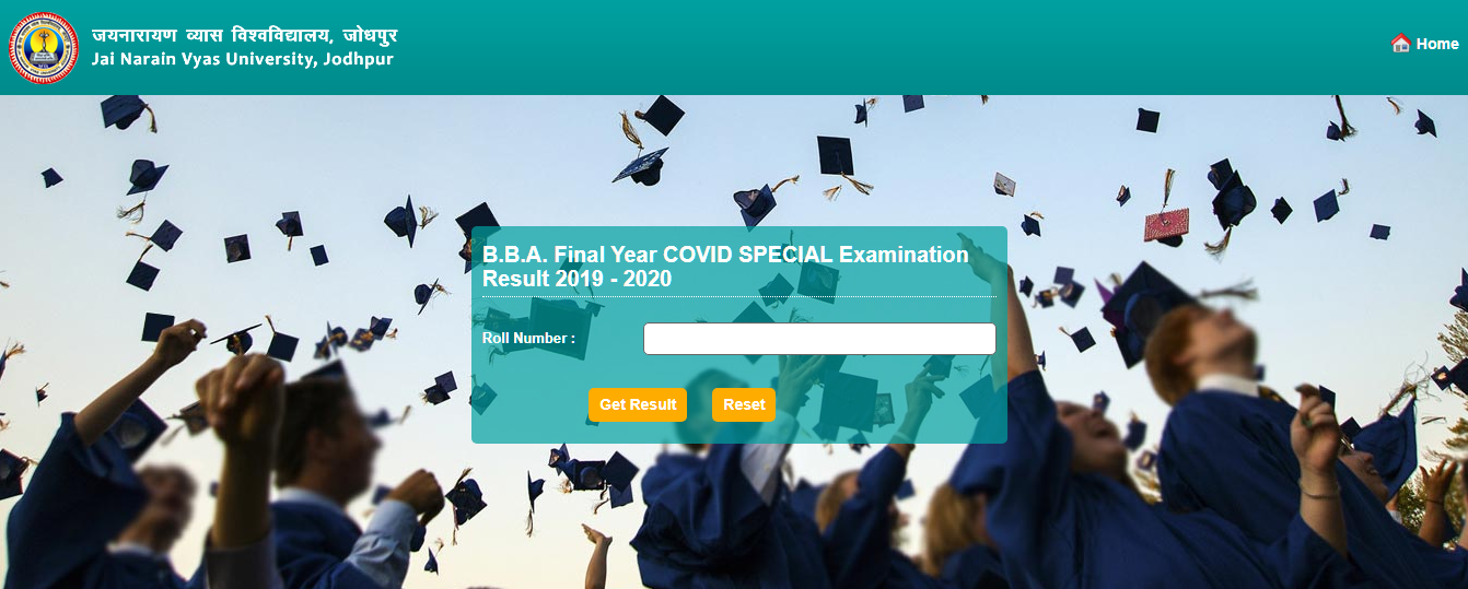 Download JNVU BBA Final Year Covid Special Exam Result