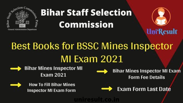 Best Books for BSSC Mines Inspector MI Exam 2021