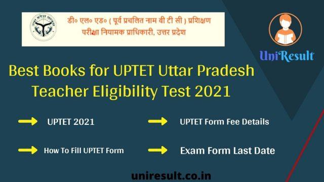 Best Books for UPTET Uttar Pradesh Teacher Eligibility Test 2021
