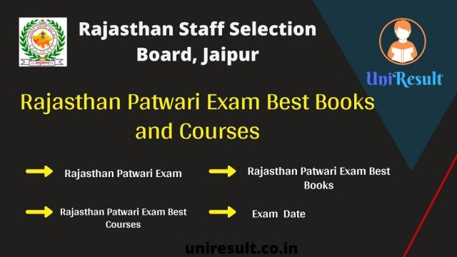 Rajasthan Patwari Exam Best Books and Courses